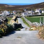 an image of a pathway within the village of cregneash