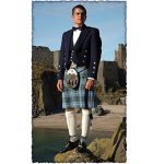 A man wearing the manx kilt